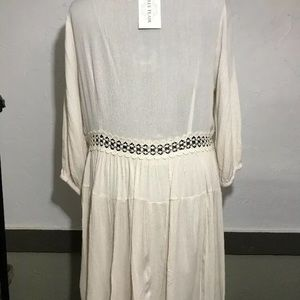 Filly Flair Dresses - Filly Flair Ivory Partially Lined Dress Sz L New